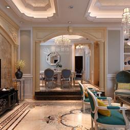寶格麗小鎮260平米別墅歐式風格裝修設計_3728649