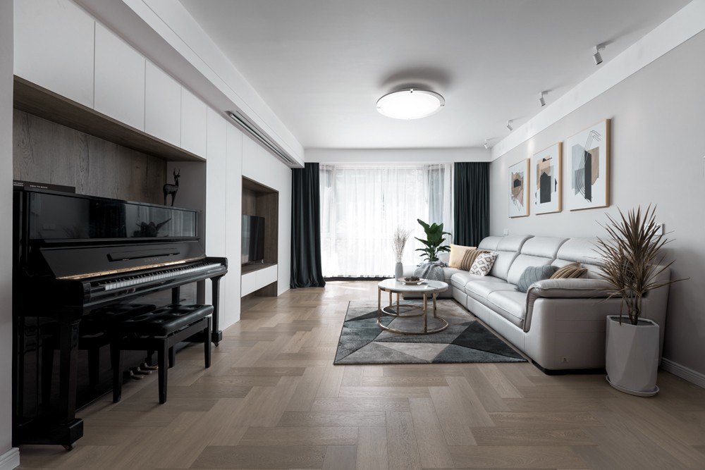 """这家的""""性冷淡""""黑白灰,还透着温情的一面客厅其他客厅设计图片赏析"""