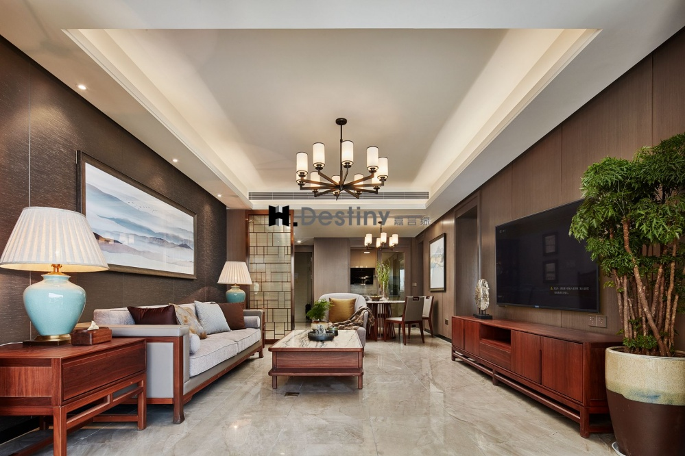 雅致,画出家的圆心客厅现代简约客厅设计图片赏析