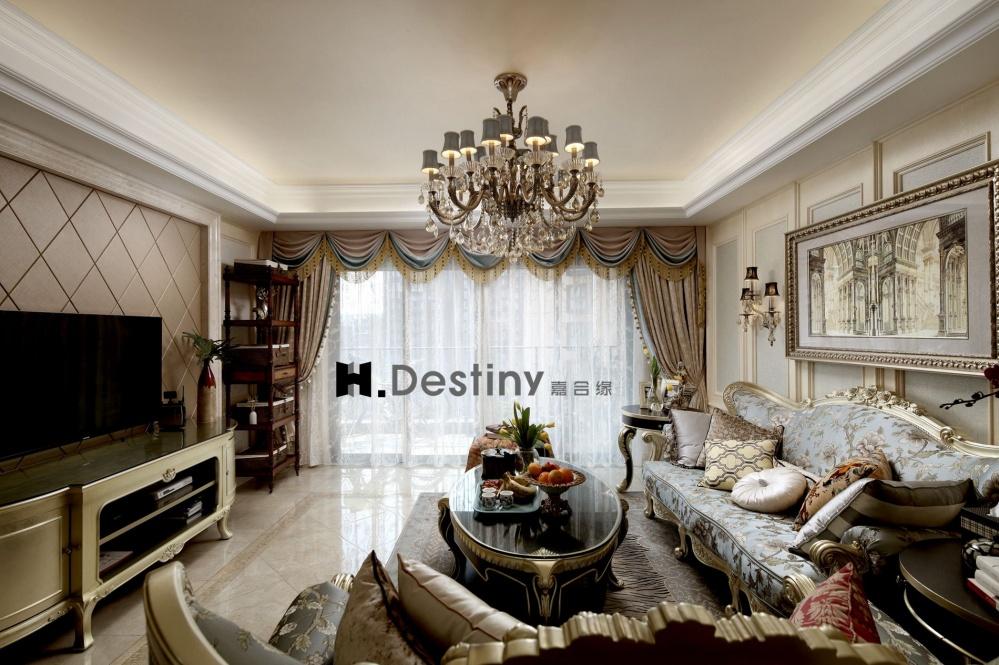 混搭欧式下的低调奢华诠释客厅4图欧式豪华客厅设计图片赏析