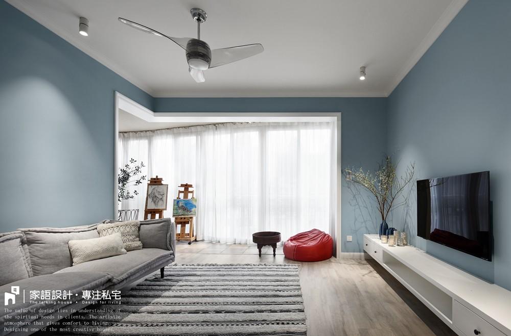夏日清凉客厅潮流混搭客厅设计图片赏析