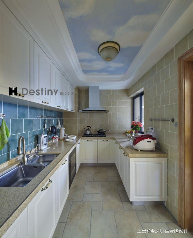 首地容御白云家餐厅橱柜潮流混搭厨房设计图片赏析