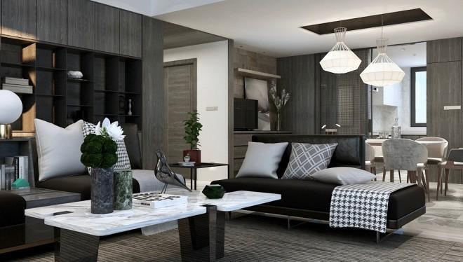 220㎡黑色系現代優雅住宅丨女主人很美