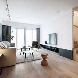現代簡約復式——客廳圖片