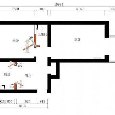 54平米小户型改出了让人羡慕的厨卫空间_3740424