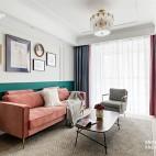 90 m² | 复古北欧——客厅图片