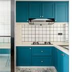 90 m² | 复古北欧——厨房图片
