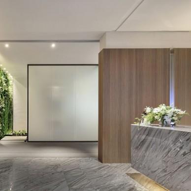 无垠设计 I 中交财富中心办公样板间——前台图片