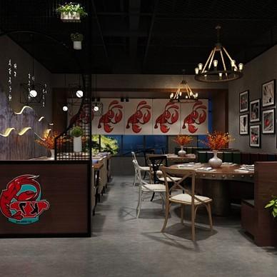 餐飲會所龍蝦店裝飾裝修設計_3745407