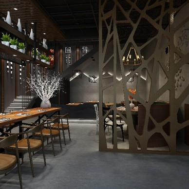 餐飲會所龍蝦店裝飾裝修設計_3745408