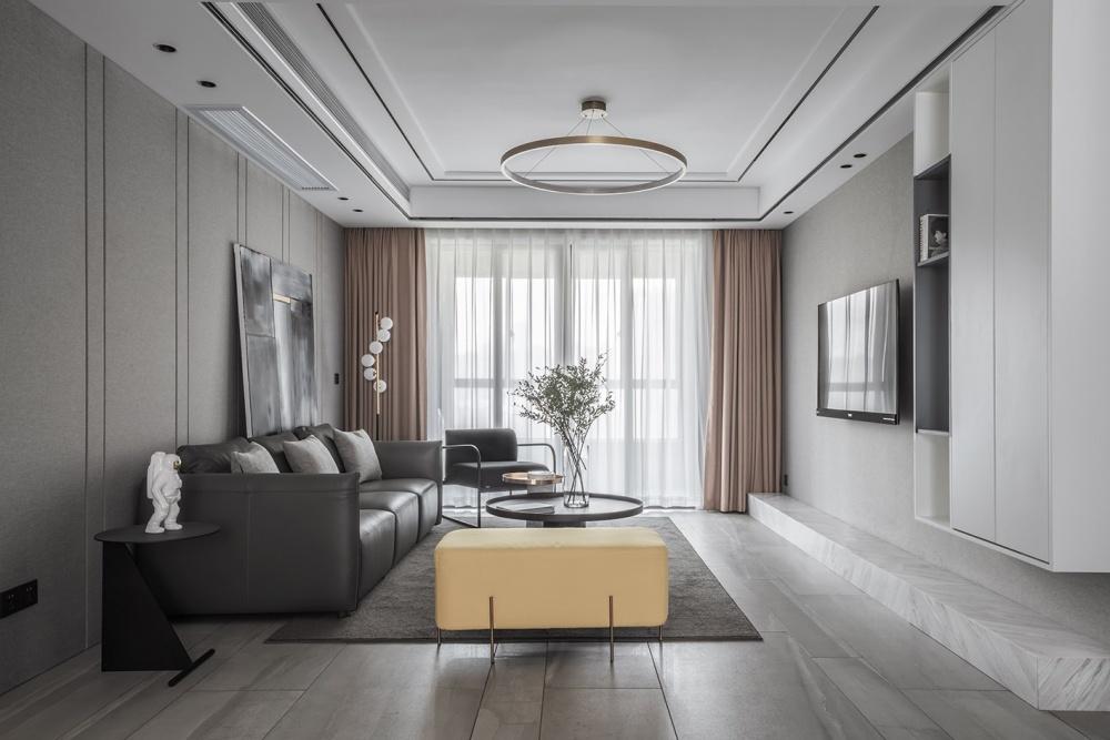 矩形客厅现代简约客厅设计图片赏析
