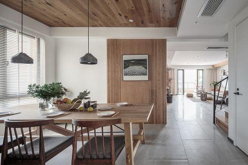 素木厨房201-500m²北欧极简家装装修案例效果图