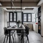 一野设计—140m² |有颜色的黑白灰——餐厅图片