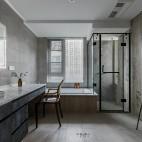 一野设计—140m² |有颜色的黑白灰——卫生间图片
