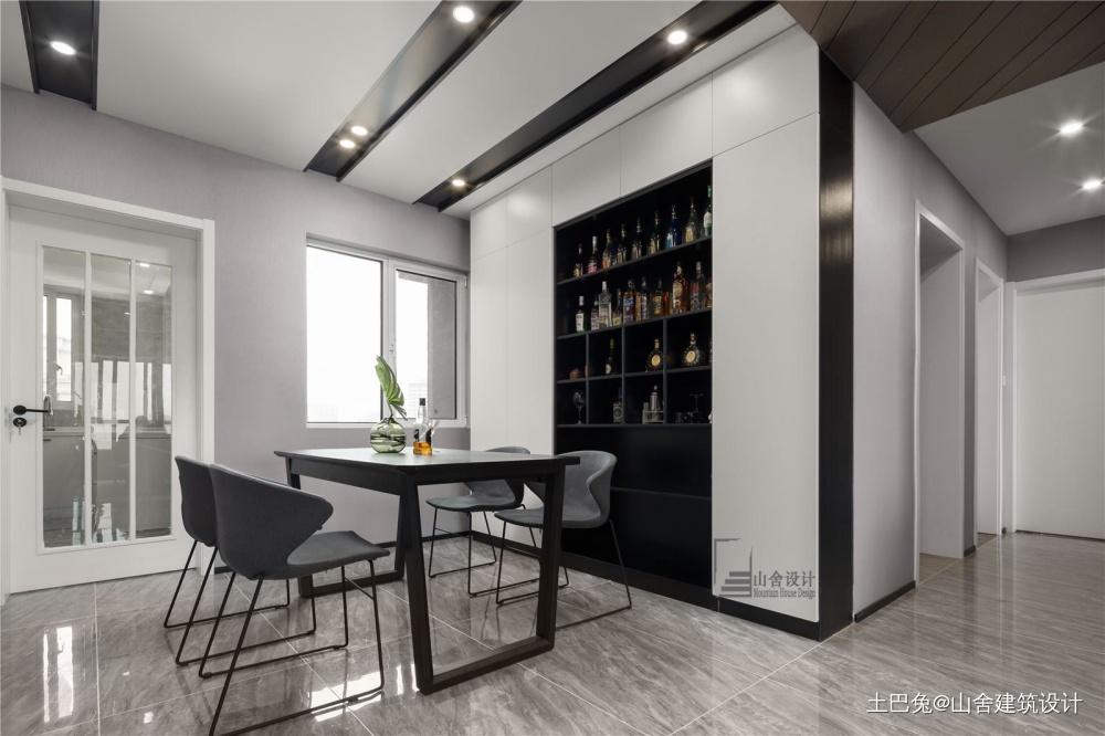 我们的家是星辰大海厨房窗帘现代简约餐厅设计图片赏析