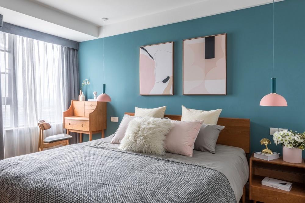 老师的家|全面墙书柜客厅+隐形门设计卧室2图现代简约卧室设计图片赏析