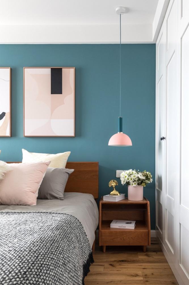 老师的家|全面墙书柜客厅+隐形门设计卧室3图现代简约卧室设计图片赏析