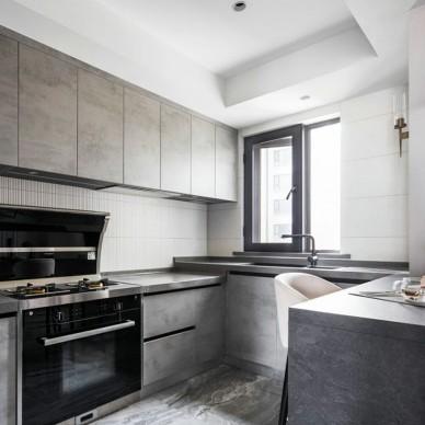 90后小夫妻的婚房,时尚轻奢、优雅高级——厨房图片