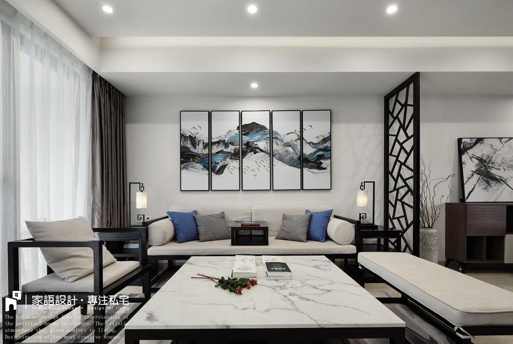 苏所·致渺客厅中式现代客厅设计图片赏析