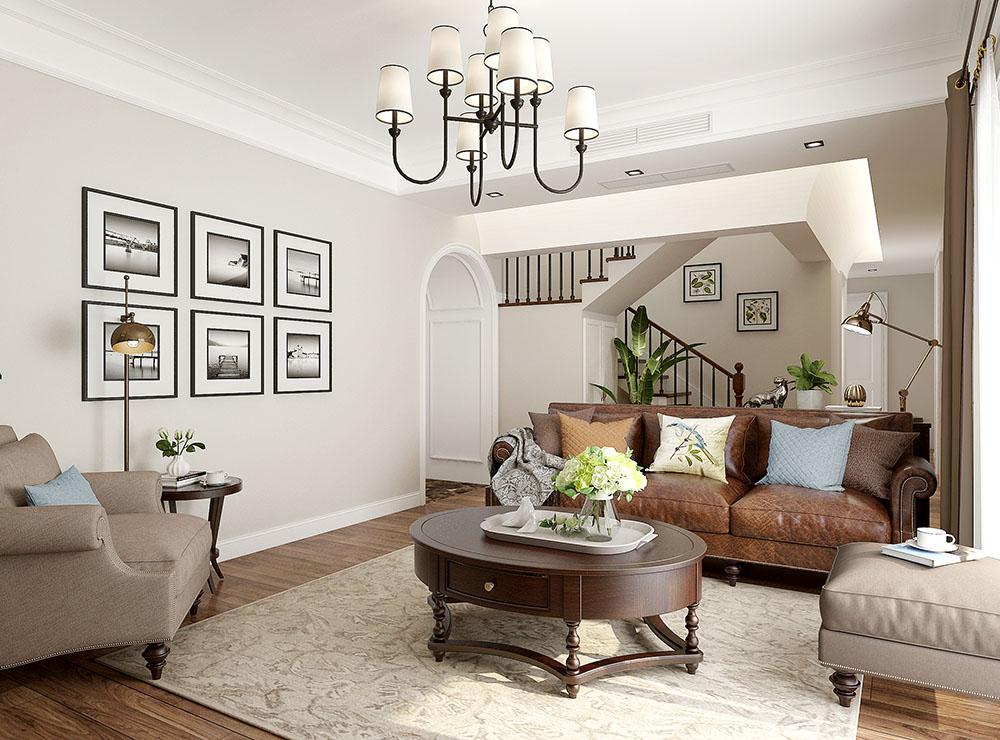 安然年华•美而不腻的简美住宅空间客厅美式经典客厅设计图片赏析