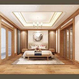 新中式卧室_3764320