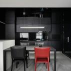 复式—电视隐身、楼梯悬浮——餐厅图片