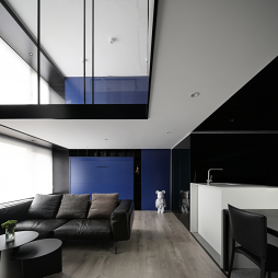 复式—电视隐身、楼梯悬浮——客厅图片