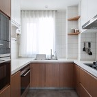 浅木色的日式北欧家,真是太治愈了——厨房图片