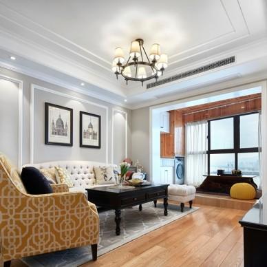 美式经典—幸福来敲门——客厅图片