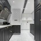 禾舍設計 極簡浪漫輕法式,典雅精致美宅——廚房圖片