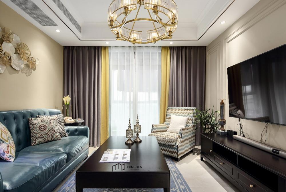 名本设计事务所客厅美式经典客厅设计图片赏析