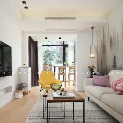 北欧极简—爱在盛夏 绣球花开——客厅图片
