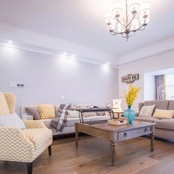170平简约美式,大平层里的浪漫生活——客厅图片