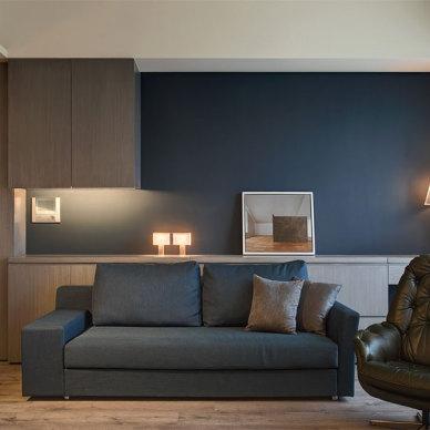 《极致灰-汽车设计师的家》——沙发背景图