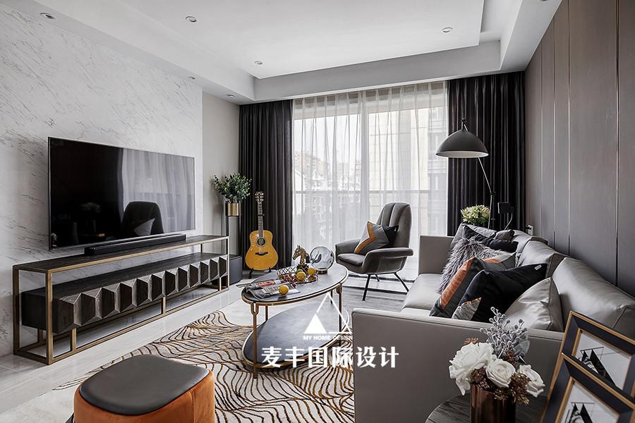现代紫金府客厅现代简约客厅设计图片赏析