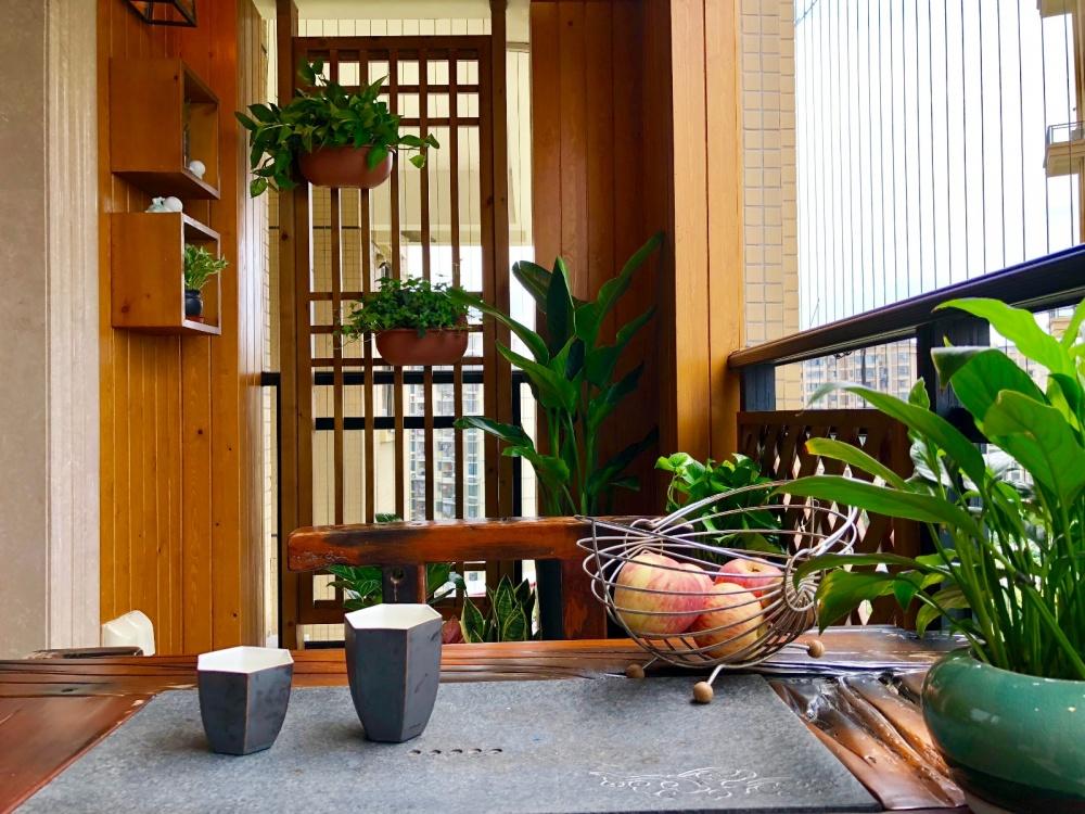 懒猫木阳台禅意风阳台阳台8图