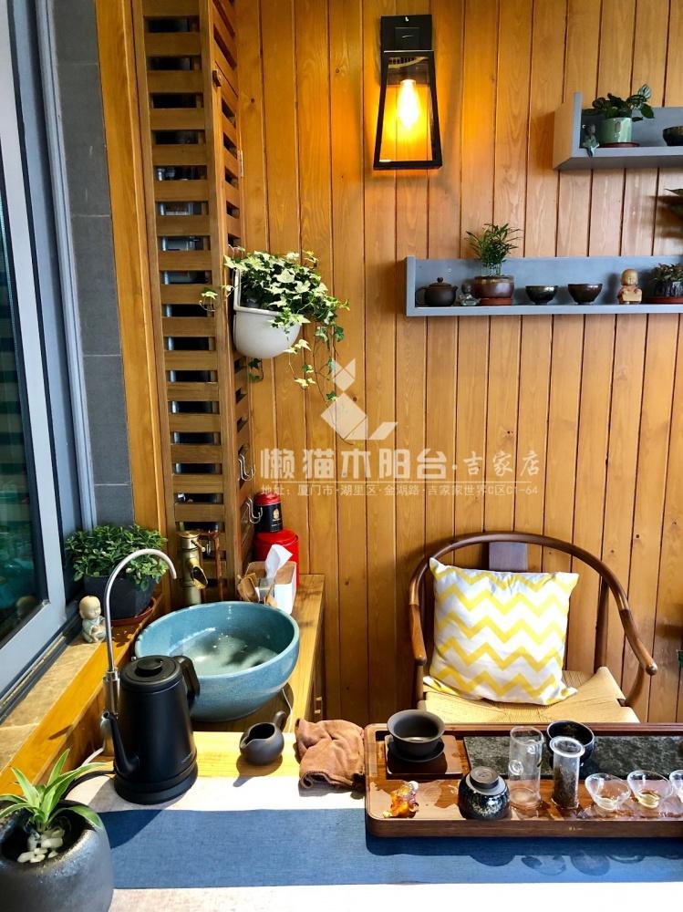 懒猫木阳台禅意风阳台阳台3图