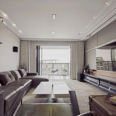 高级灰现代简约三室——客厅图片