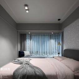 71平米北欧极简——卧室图片