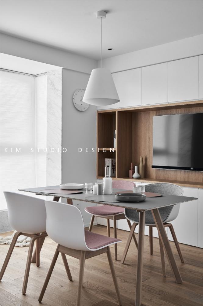 Joyful|原木色的日式小清新厨房2图日式餐厅设计图片赏析