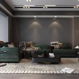 现代简约—玻璃晴朗 橘子辉煌——客厅图片