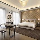 现代极简不仅仅只流行冷调的高级灰——客房图片