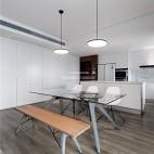 140平现代极简,餐厅厨房很漂亮_3798290