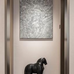北京京投公园悦府样板房设计E户型——玄关图片