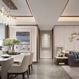 北京京投公园悦府样板房设计E户型——客餐厅图片