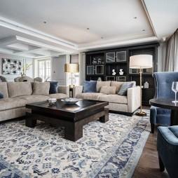 一点青花一点蓝,悠悠雅宅把江看——客厅图片