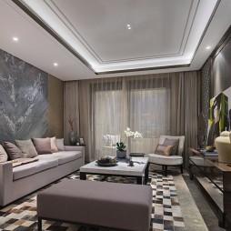 中海公馆160m²现代轻奢风格装修效果图_3800408