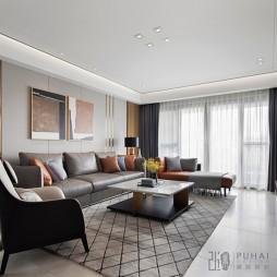 150㎡质感私宅,纯粹而温暖的幸福——客厅图片