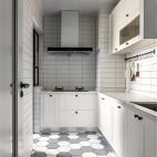 125平米北欧极简厨房设计图