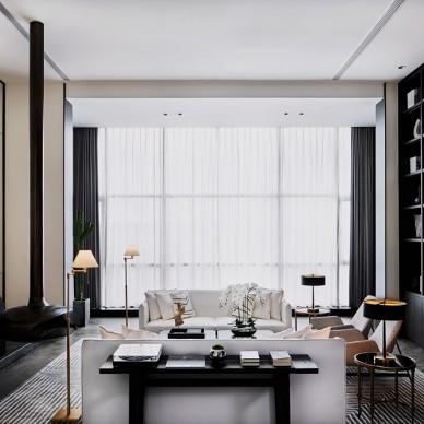 李益中設計丨重慶中海天鉆:自由的藝術之家——客廳圖片